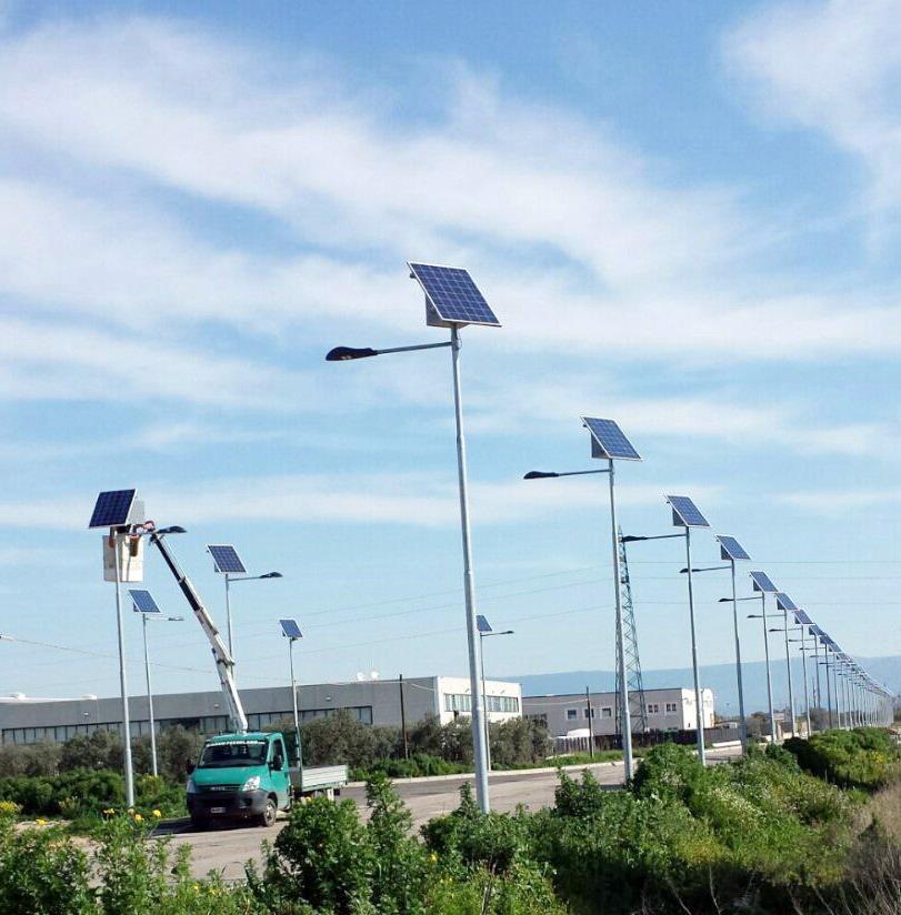 Illuminazione stradale stand alone Zona asi San Severo (FG)